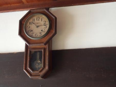 古時計 時計 アンティーク 古物 時間 六角形 木製 振り子時計 レトロ 掛け時計 柱時計 昭和