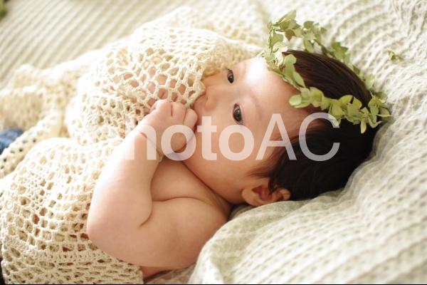 赤ちゃん天使の写真