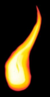 灯火:ろうそくの先風:PSDの写真