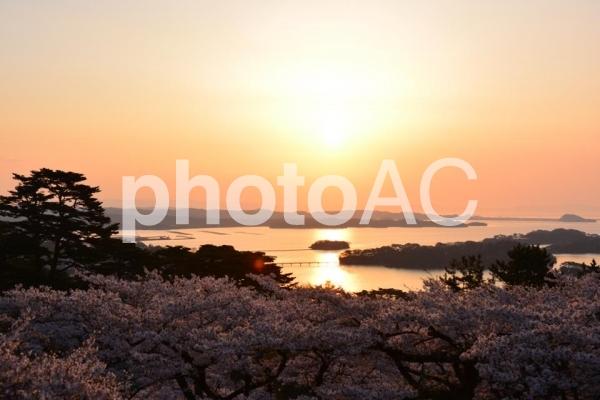 日本三景 松島の朝日の写真