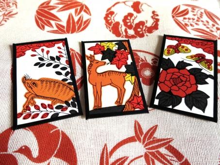 猪鹿蝶 花札 かるた ゲーム  カードゲーム ボードゲーム 遊び 盤上遊戯 遊戯 伝統 日本 こいこい
