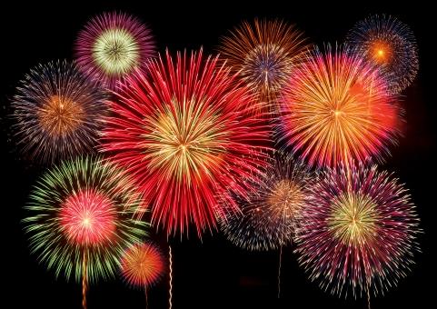 夏 祭 お祭り 花火 夜空 summer festival fireworks night スターマイン 夏祭り 夏休み 夜 仕掛け花火 starmine 光 light 閃光 炸裂 スターマイン風 複数 たくさん 沢山 いっぱい コラージュ