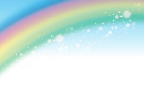 虹 にじ レインボー 7色 七色 なないろ カラフル 空 青 メルヘン 雨 きらきら キラキラ 素材 背景 テクスチャ バック 明るい 上がる 水 晴 5月 6月 7月 8月 9月 梅雨