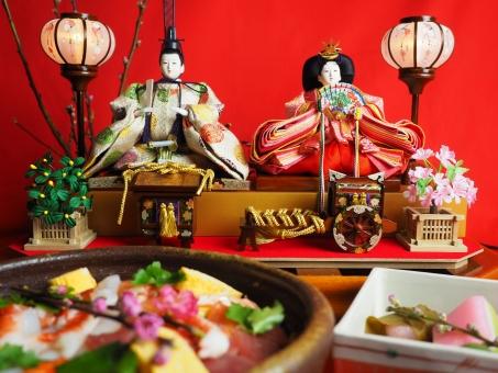 ひなまつり ひな祭り 雛祭り お雛様 おひなさま おひな様 3月3日 節句 年中行事 日本 伝統 ちらし寿司 寿司 桃の節句 女の子 女子 人形 女性 飾り 行事 イベント 内裏雛 文化 伝統文化 日本の 日本的な 3月 三月 春 ぼんぼり