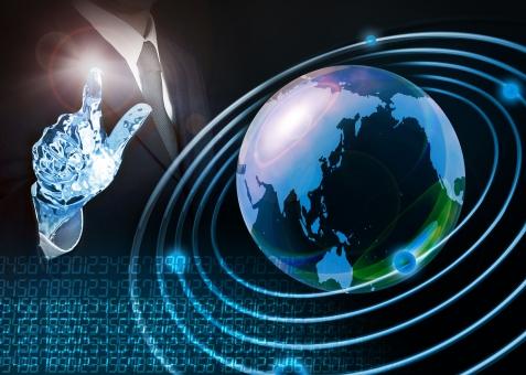ビジネス ビジネスマン スーツ ネクタイ 地球 グローバル ネットワーク 数字 先端 最先端 未来 デジタル テクノロジー アンドロイド ロボット ヒューマノイド SF サイエンス 科学 コンピューター IT グローバル 宇宙 次世代 サイバー 科学的 技術 革新 人工知能 イノベーション