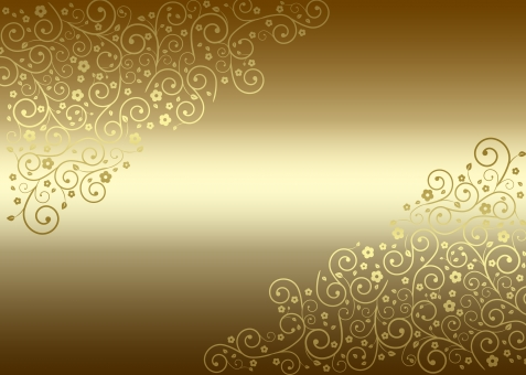 アンティーク 草 植物 花 花びら 金 ゴールド 金色 光沢 背景 背景素材 バック バックグラウンド テクスチャー テクスチャ 唐草模様 つる 蔓 つた 蔦 優美 美しい 綺麗 きれい 草 ゴージャス 華麗 クラシック クラシカル ヴィンテージ