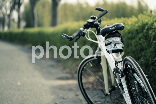 自転車のある風景の写真