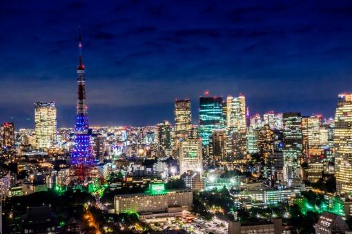 【東京】夜景・ビル群の写真