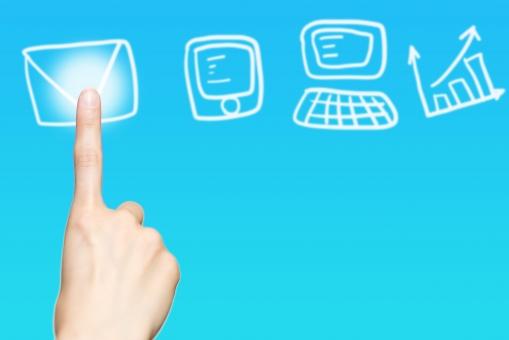 タッチパネル タブレット テクノロジー 指 女性 手 選択 ビジネス 押す 選ぶ 未来 モニター 操作 仕事 ボタン インターフェイス セレクト パソコン コンピューター スマホ グラフ スマートフォン 電話