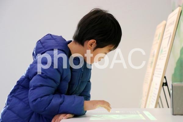 博物館と子供の写真