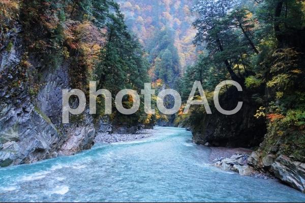 黒部峡谷 猿飛峡の写真