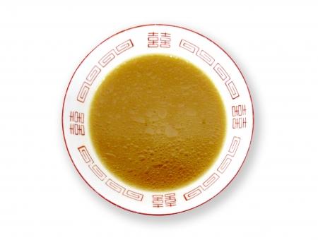ラーメン鉢 スープだけ 麺なし 豚骨しょうゆ・鶏ガラ・カレー等【黄茶・黄金系】の写真