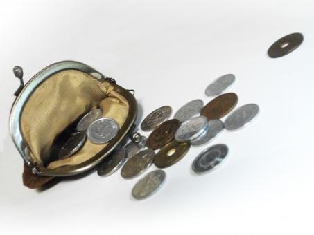 がま口 ガマ口 財布 小銭入れ 小銭 貨幣 日本貨幣 お金 マネー 金銭 節約 生活 支出 出費 収入 小物 ビジネス 現金 買物 ショッピング 硬貨