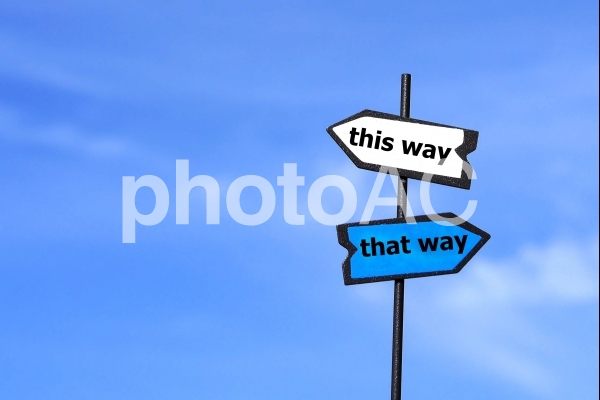 分かれ道の写真