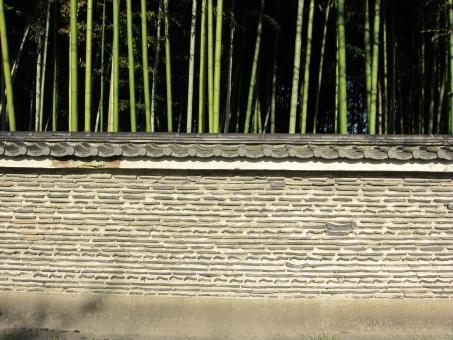 瓦 竹林 瓦塀 土塀 風情 古風 古式 和文様 埋蔵 埋め込み 京都 京都らしさ