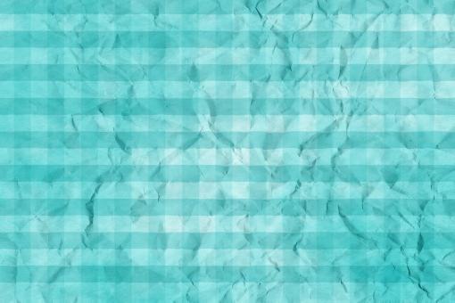 和紙 色紙 台紙 紙 ちぢれ ゴワゴワ 凸凹 テクスチャー 背景 背景画像 ファイバー しわ 繊維 くしゃくしゃ チェック ギンガムチェック 格子 格子模様 水色 翡翠 水 青 浅葱 ブルー ライトブルー アクアマリン 空 スカイブルー 空色 シアン