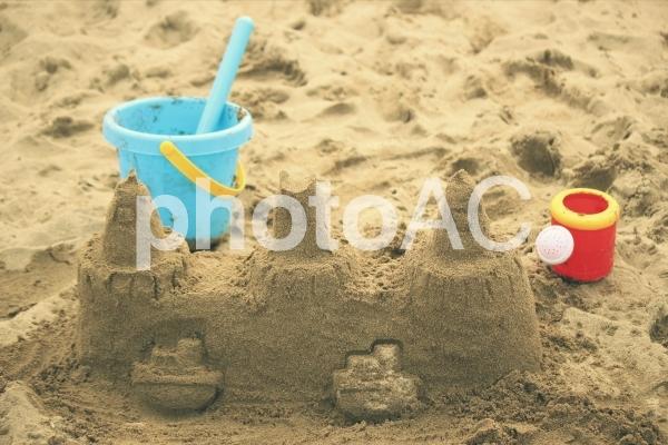 砂浜遊びの写真