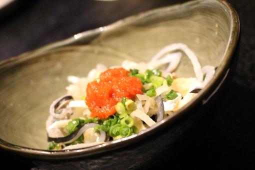 ふぐ ふく ふぐ皮 ふく皮 ポン酢 和え物 紅葉おろし ねぎ つまみ 食事 夕食 晩ご飯 魚 皮