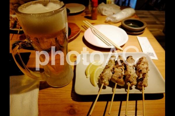 酒の肴 焼き鳥の写真