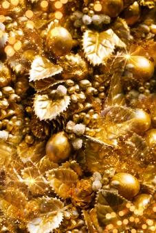 ゴールドクリスマス素材の写真