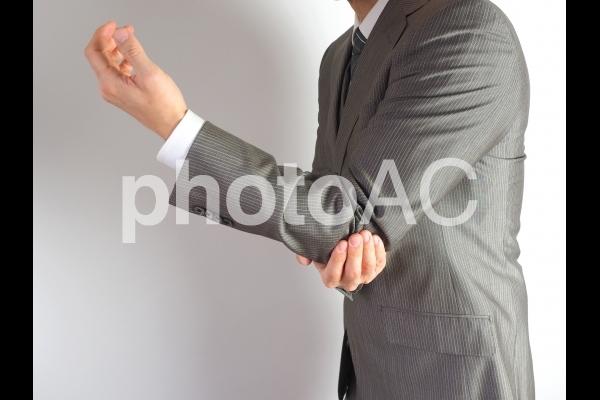 肘の痛みの写真