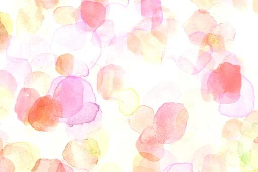背景 背景素材 壁紙 バックグラウンド テクスチャ テクスチャー 模様 柄 イラスト イラストレーション 紙 手描き 手書き 水彩 にじみ ランダム かわいい おしゃれ 水玉 水玉模様 ドット ドット柄 ドット模様 円 丸 点 白 白背景  黄色 イエロー ピンク レッド 赤 優しい 暖か ふんわり 穏やか