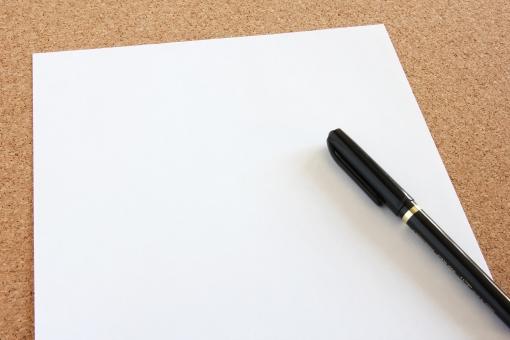 「紙とペン フリー素材」の画像検索結果