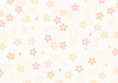 ちよがみ おりがみ 折紙 折り紙 和風 和柄 和紙 テクスチャ 背景 壁紙 花柄 桜 さくら サクラ オレンジ ピンク ベージュ 着物 浴衣 風呂敷 春