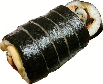海苔巻(太巻き)切抜き済みの写真