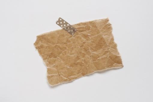 メモ メモ用紙 クラフト ワックスペーパー マスキングテープ 伝言 背景 素材 テクスチャ くしゃくしゃ 茶色 ブラウン 男前 アンティーク