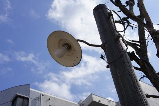 電灯 電球 外灯 レトロ 昭和 昭和時代 戦後 下町 下町の雰囲気