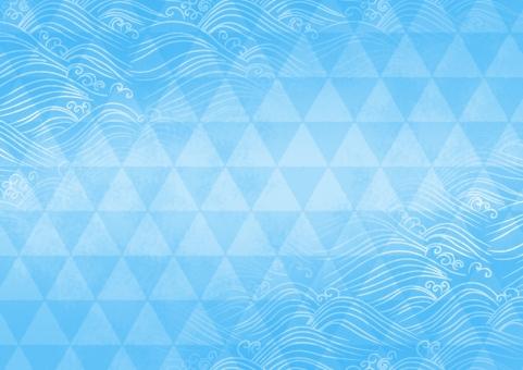 背景 背景素材 テクスチャ テクスチャー バックグラウンド うろこ 流水 水 水流 鱗 和柄 和風 伝統的な 日本的な 日本の 壁紙 波 落ち着きのある 模様 伝統 伝統工芸 パターン 文様 夏 涼しい 涼しげな 青 ブルー みずみずしい 冷たい