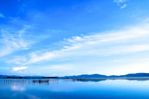 滋賀県 湖 静寂 ブルー 静か