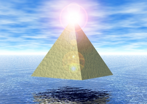 ピラミッドパワー 四角錐 海 空 青空 エネルギー 生命 生命力 古代 エジプト 文明 古代文明 ヒーリング スピリチュアル 精神 精神世界 冥想 瞑想 集中 パワー 不思議 超能力 超常現象 逆光 光 オーラ ラー 開運 EMS チャクラ