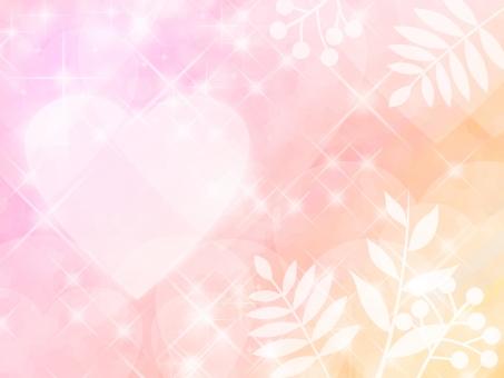 ピンク ハート 愛情 想い 告白 恋愛 愛 恋 夢 光 輝き 憧れ 希望 木の葉 芽生え バレンタイン 背景 温か 煌めき 喜び 豪華