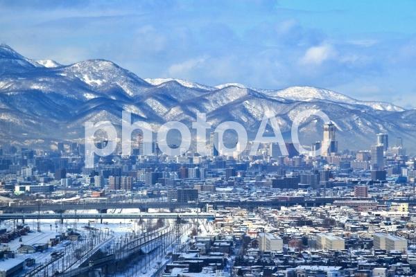 美しい冬の札幌の雪景色の写真