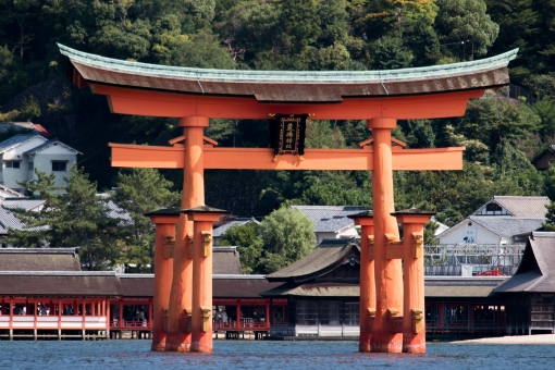 厳島神社大鳥居の写真