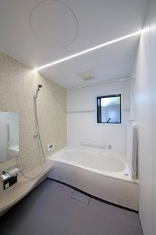 浴室 バスルーム 風呂 LED 住宅 ユニット 建築 白 アイボリー