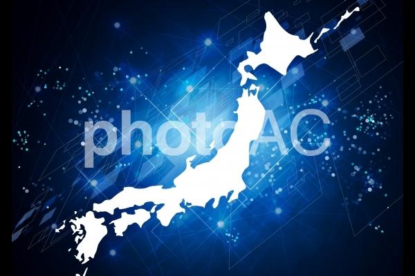 日本列島とデジタル社会の写真