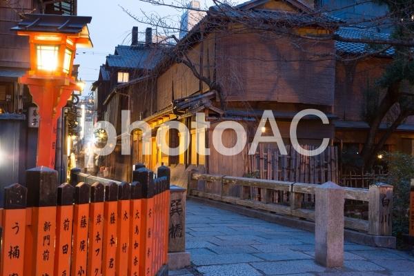 京都 祇園 巽橋の写真