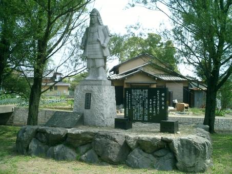 坂本城址公園明智光秀像 坂本城址公園 明智光秀像 坂本城 坂本