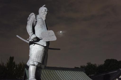 大阪 大阪城 太閤 夜景 天下人 サル 猿 さる 秀吉 豊臣秀吉 ライトアップ 夜景 銅像 名所