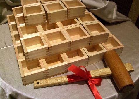 ます 枡 酒枡 祝枡 日本酒 木槌 リボン 祝い 小物 行事 テーブル クロス テーブルクロス 木 祝杯 お祭り 乾杯 振る舞い酒 鏡開き