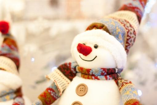 クリスマスの雪ダルマの写真