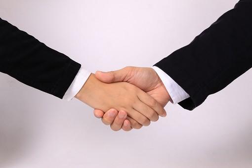 ビジネスハンドパーツ(握手)2の写真