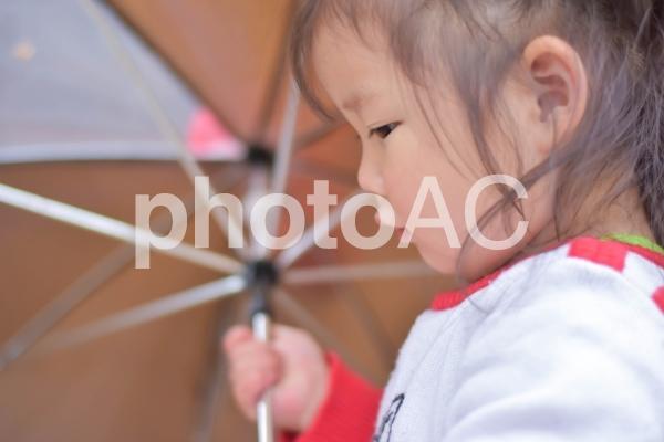 傘を持つ子供の写真