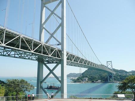 関門海峡 関門橋 橋 山口 つり橋 中国地方 海 下関市