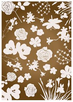 背景 テクスチャ テクスチャー バックグラウンド 背景素材 アップ 模様 正面  ポスター グラフィック ポストカード 柄 デザイン 素材  フレーム 装飾  全面  包装紙 包み イラストペー 花 フラワー 植物 ばら バラ 薔薇 ローズ 桔梗 茶色