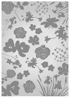 背景 テクスチャ テクスチャー バックグラウンド 背景素材 アップ 模様 正面  ポスター グラフィック ポストカード 柄 デザイン 素材  フレーム 装飾  全面  包装紙 包み イラストペーパー パターン 花 フラワー 植物 ばら バラ 薔薇 ローズ 桔梗 グレー 灰色