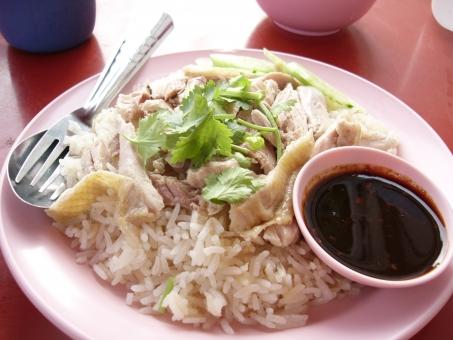 カオマンガイ タイ料理 チキンライス シンガポールチキンライス エスニック料理 タイ アジア 東南アジア 海外 外国 旅行 ローカルフード 屋台 鶏肉